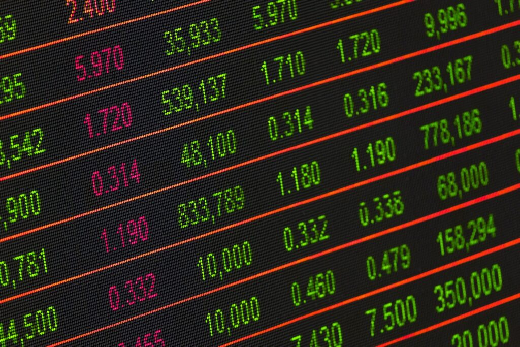 Stock Prices Displayed